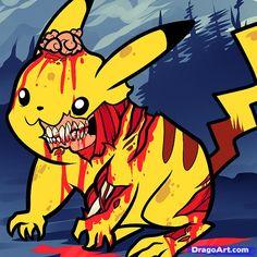 Drawings of Pikachu | how to draw zombie pikachu, zombie pikachu