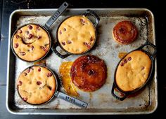 Apple and Cranberry Upside-Down Cakes Recipe | SAVEUR. Oh yum!