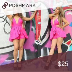 Pink Romper Brand name evenuel. Very cute and run regular sizes Other