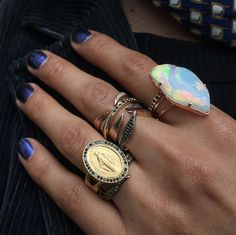 Mother Mary Decked Out Statement Rings, Gemstone Rings, Mother Mary, Jewels, Gemstones, Shopping, Design, Style, Swag