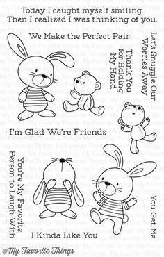 Snuggle Bunnies stamp set #mftstamps