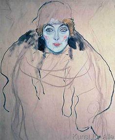 Gustav Klimt - Head of a Woman