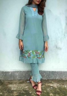 Please Comment, Like, or Re-Pin for later 😍💞 kurti ladies, indian cloth store near me, lehenga for women latest design, embroidered lehenga choli, indian clothes stores, anarkali dress latest design, engagement dress for bride online, india lehenga, bridal collection online, indian wear women, shadi collection dress Neck Designs For Suits, Sleeves Designs For Dresses, Punjabi Salwar Suits, Salwar Kameez, Ladies Suits Indian, Suits For Women, Latest Suit Design, Suit Pattern, Cape Pattern