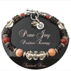 Positive Energy Healing Crystal Reiki Lotus Gemstone Joy Bracelet
