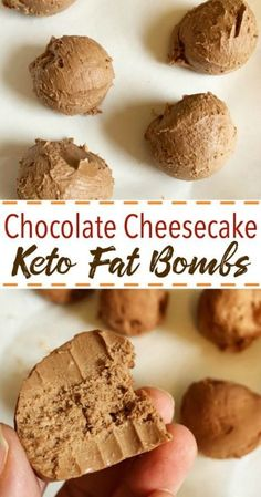 Chocolate Cheesecake Keto Fat Bombs are decadent and delicious. Help curb the cr… Chocolate Cheesecake Keto Fat Bombs are decadent and delicious. Help curb the cravings and keep the hunger away – and enjoy that cheesecake texture. So delicious! Keto Fat, Low Carb Keto, Low Carb Recipes, High Fat Keto Foods, Ketogenic Recipes, Diet Foods, Gm Diet, Ketogenic Cookbook, Atkins Recipes