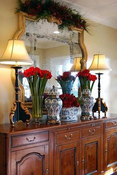 Sideboard beautifully decorated
