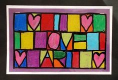 Paul Klee Abstract Name Design - cool idea for kids!: