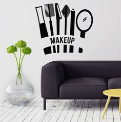 Vinyl Decal Cosmetics Makeup Beauty Salon Woman Girl Room Wall Stickers Mural (ig2732)