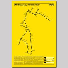 BMT Broadway NQR Subway Poster