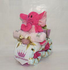 """Windeltorte-Windelmotorrad """"Prinzessin"""" Elefant rosa  Herzlich Willkommen bei Windeltorte.bayern Bei uns steht die _**Zufriedenheit der Kunden**_ an erster Stelle. Daher bieten wir Ihnen einen..."""