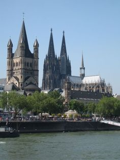 panoramic view, the middle tower is the dom, Koln, Germany