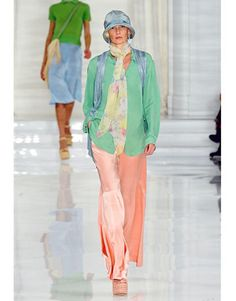 Cloche hats and soft, feminine separates at Ralph Lauren set the mood for Spring.