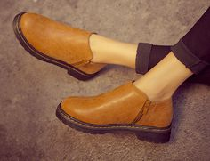 Womens Casual Low-Top Moto Boots