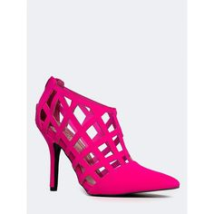 MIXI-85 BOOTIE (10.195 HUF) ❤ liked on Polyvore featuring shoes, boots, ankle booties, caged booties, ankle boots, pointed toe bootie, zipper boots and zip ankle boots