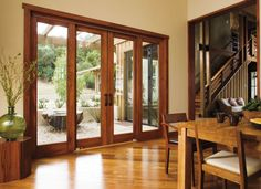 Timber doors and staircase