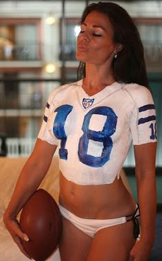 Colts nfl fan hottie tatuaje desnudo