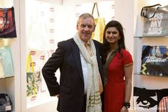 Supreme Creations CEO Smruti Sriram with John Miln, CEO of UK Fashion & Textile Association #Supremeawards #Supremecreations
