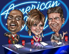 TV-Movies-Music Themed Gifts - Custom TV-Movies-Music Themed Caricatures From A Photo