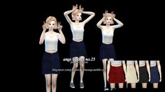 Skirt no.25 at Sims4 Angs via Sims 4 Updates