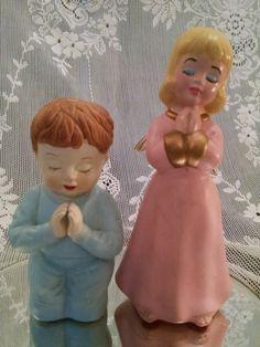 Angel, Porcelain Angel girl,Praying angel, praying boy, vintage figurine, Vintage ceramic, Angel, Angel child, praying little boy,girl angel by Vintagepetalpushers on Etsy