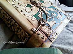 antique old book box Adisa Lisovac Decoupage