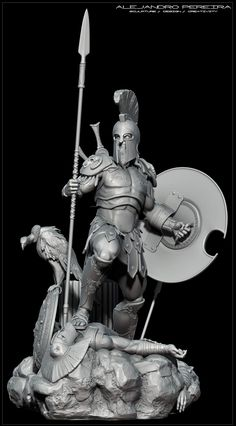 ZBrush is the industry standard and best selling digital sculpting tool. Character Modeling, 3d Character, Character Concept, Concept Art, Character Design, 3d Modeling, Vikings, Spartan Warrior, Greek Warrior