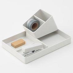 ABS樹脂 ペン・小物スタンド・1/8 約幅8.1×奥行11cm | 無印良品ネットストア