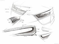 Car lights - Sketching Depth 2012 Lexus LFA Hudson Hornet Crest in Grille Smart for-us Concept Design Sketch Aston Martin, the British sport. Sketch Inspiration, Design Inspiration, Car Design Sketch, Car Sketch, 2d Design, Bike Design, Opel Gt, Sketching Techniques, Industrial Design Sketch