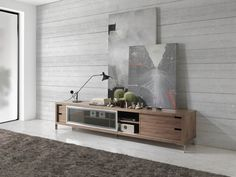 Meuble TV . Mod. SEATTLE Double Vanity, Seattle, Flat Screen, Storage, Mtv, Furniture, Home Decor, Home, Modern Design