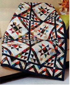 Scrappy Triangles Quilt Pattern Pieced JN
