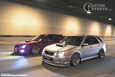 04 impreza subaru wrx awd 4dr sport wagon 20l 4cyl turbo 4a dropped 1 3 work emotion xd9 silver hellaflush 4913 2