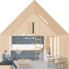 The home built for that could help solve the housing crisis is part of architecture - The 'Modulhus', designed by architects Barton Willmore and EcoMotive, is a two bedroom home covering 66 sq m and costs from just to build Architecture Graphics, Architecture Drawings, Architecture Portfolio, Interior Architecture, Planer Layout, Interior Rendering, Architecture Visualization, Modern House Design, Building A House