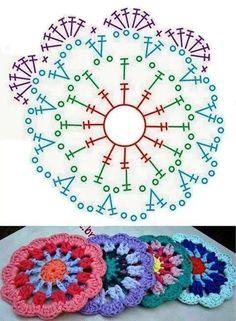 Irish crochet &: CROCHET MANDALA ... МАНДАЛА КРЮЧКОМ