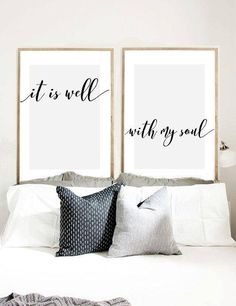 It Is Well With My Soul Print It Is Well Wall Art Bible
