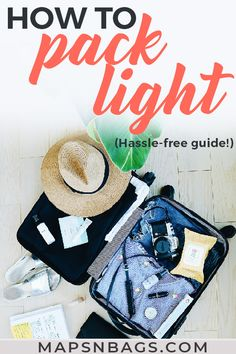 How to pack light for a trip? The answer to that question is much easier than you think. Here, I've listed what I learned about packing a carry on and all my best packing tips for vacation. These travel hacks apply for packing for a weekend away to the beach, mountain, or city! Check it out! | how to pack light for vacation | how to pack light for europe | how to pack light for a week | how to pack a suitcase | how to pack a carry on