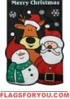 Christmas Friends Reindeer, santa Applique Garden Flag Reindeer, Snowman, Christmas Garden Flag, Garden Flags, Applique, Santa, Friends, House, Decor