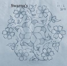 Simple Rangoli Kolam, Simple Rangoli Border Designs, Rangoli Designs Latest, Rangoli Designs Flower, Rangoli Patterns, Free Hand Rangoli Design, Small Rangoli Design, Rangoli Ideas, Rangoli Designs Diwali