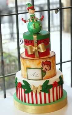 Christmas Themed Cake, Christmas Cake Designs, Christmas Cupcakes, Christmas Desserts, Christmas Baking, Holiday Cakes, Holiday Treats, Christmas Treats, Bird Cakes
