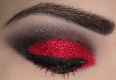 Red and black glitter