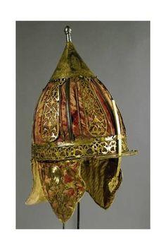 Ottoman Chichak Helmet (End of Century CE Islamic Armor) Ancient Armor, Medieval Armor, Ottoman Turks, Armadura Medieval, Art Ancien, Renaissance, Arm Armor, Fantasy Armor, Ottoman Empire