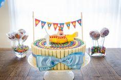 Tema para festa de um ano, festa Yellow Submarine. Incrível com detalhes muito lindos!