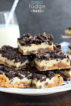Oreo Fudge Bars: cho