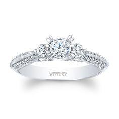 Global Matthew Ryan 14k Gold 3/4ct TDW Diamond 3-stone Engagement Ring (G-H, SI1-SI2) (size .00), Women's