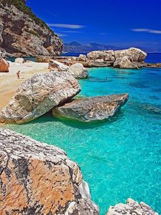 Cala Mariolu, Golfo di Orosei, Sardinia, Italy Sardinia is the second largest island in the Mediterranean Sea (after Sicily and before Cy...