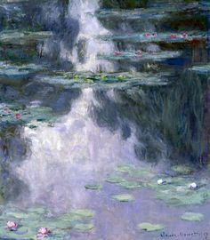 Claude Monet / Water Lilies. Dimensions: w81.2 x h92.1 cm