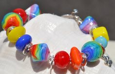 SEVENTIES Handmade Lampwork and Sterling Silver by livilubaby, $157.00