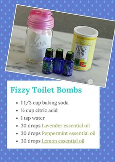 Fizzy Toilet Freshening BombsHere are some more natural cleaning products!