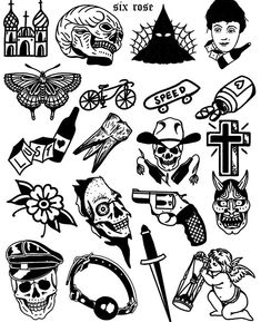 Traditional Tattoo Black And White, Traditional Tattoo Old School, Traditional Tattoo Design, Traditional Tattoo Flash Art, Pop Art Tattoos, Black Ink Tattoos, Tatoos, Traditional Tattoo Illustration, Vintage Tattoo Art
