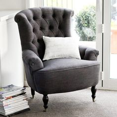 Genial Fabric Armchair Charcoal $795