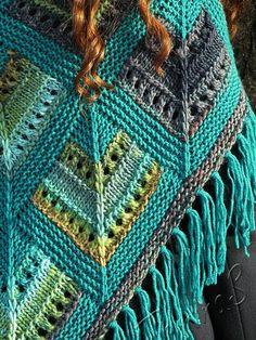 Crochet Alpaca shawl Hecho a mano punto de chal cálido Gilet Crochet, Knitted Afghans, Knit Or Crochet, Knitted Blankets, Lace Knitting, Crochet Shawl, Knitting Stitches, Stitch Patterns, Knitting Patterns